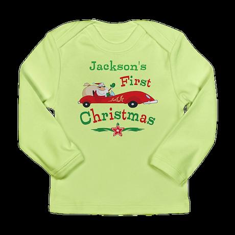 Custom 1st Christmas Long Sleeve Infant T-Shirt