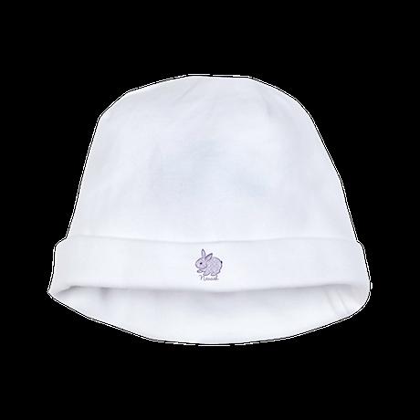 Purple chic bunny baby hat
