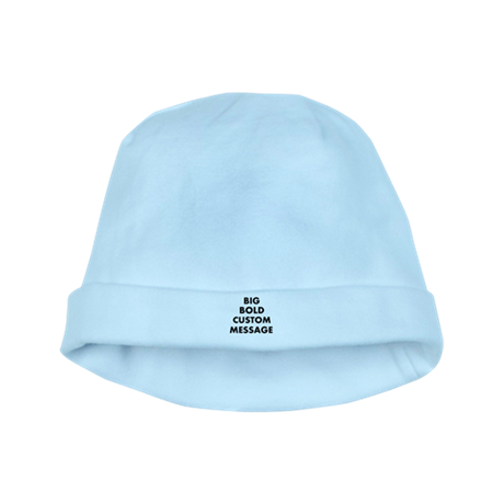 Personalized Bold Font Messag baby hat