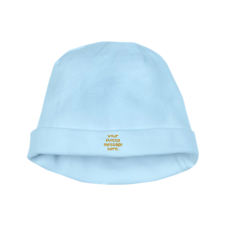 four line funny message baby hat