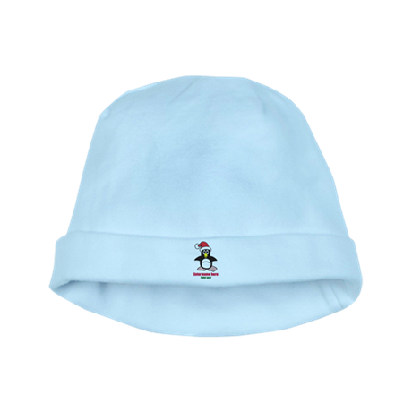 Personalized Christmas Penguin baby hat