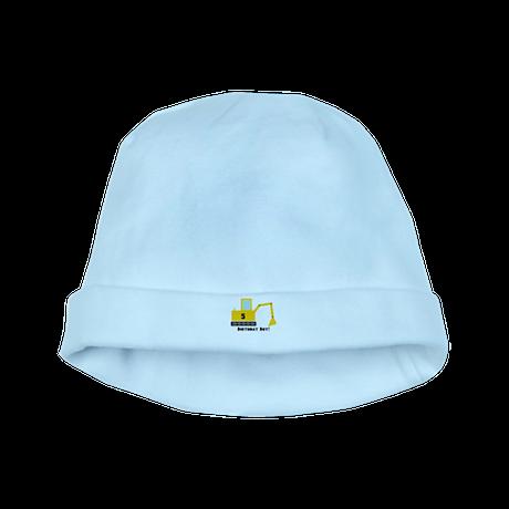 Excavator Birthday Boy baby hat