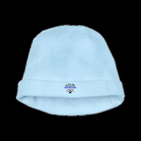 Custom I Love My Bullmastiff baby hat