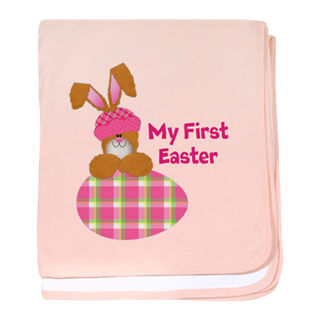Customizable: My First Easter baby blanket