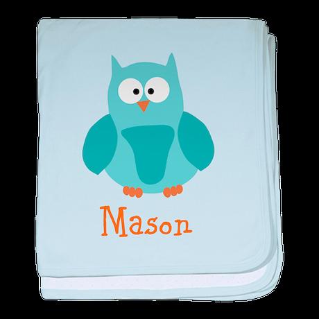Custom Name Owl baby blanket