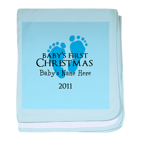 Baby's First Christmas 2011 baby blanket