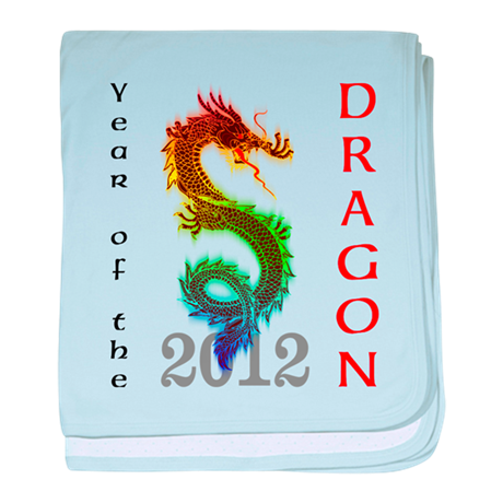 Year of the Dragon 2012 baby blanket
