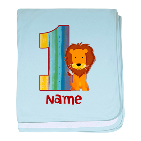 First Birthday Lion baby blanket