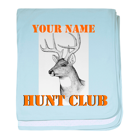 Custom Hunt Club baby blanket