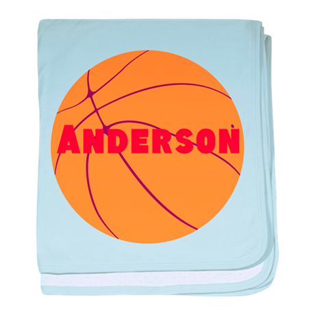 Personalized Basketball. baby blanket