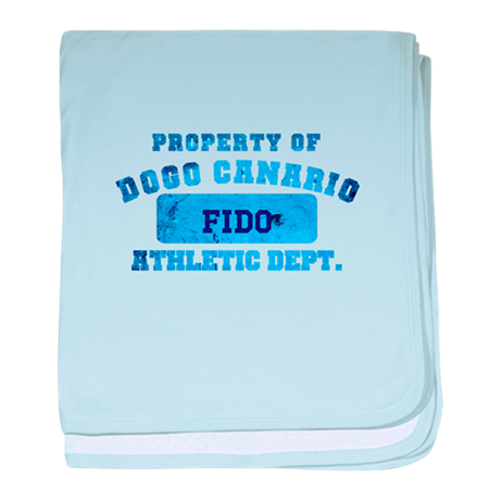 Personalized Property of Dogo Canario baby blanket
