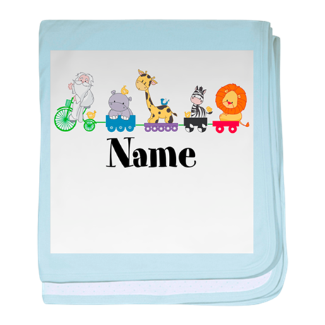 Personalized Noahs Ark baby blanket