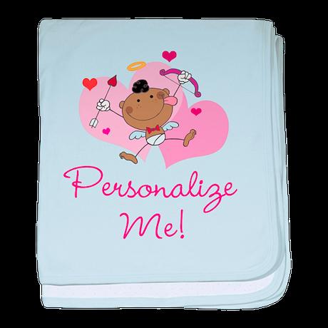 Personalizable Cupid baby blanket