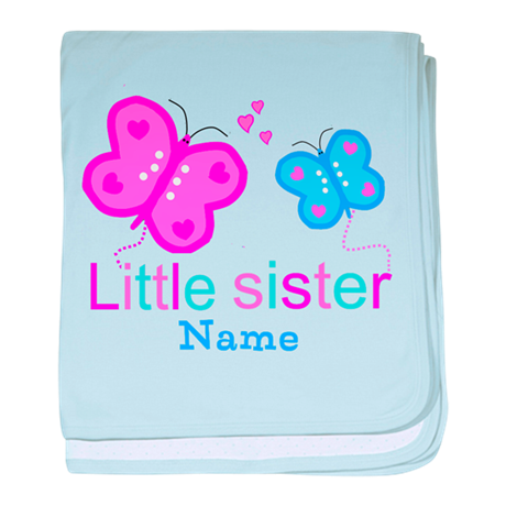 Little Sister Butterfly baby blanket