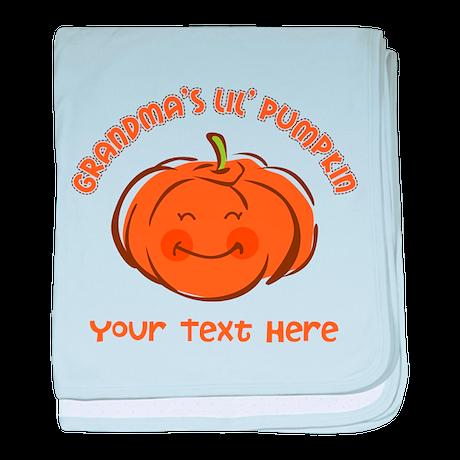 Grandma's Little Pumpkin Personalized baby blanket