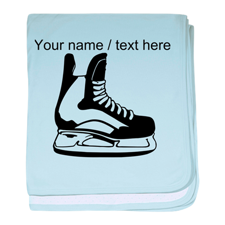 Custom Hockey Skate baby blanket