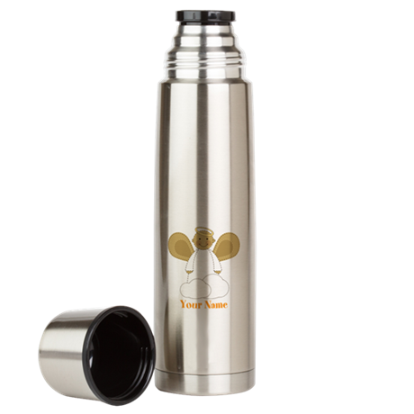 Personalized Christmas Angel Large Thermos Bottle