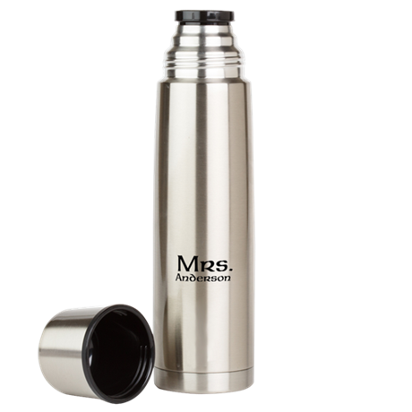 Personalized Mr and Mrs set - Mrs Large Thermos Bo