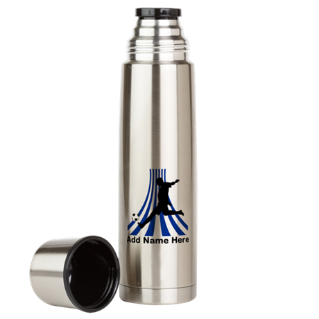 Personalized name soccer gift Large Thermos Bottle