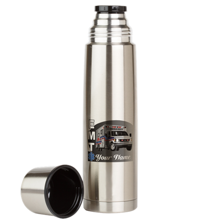 Custom Personalized EMT Large Thermos Bottle
