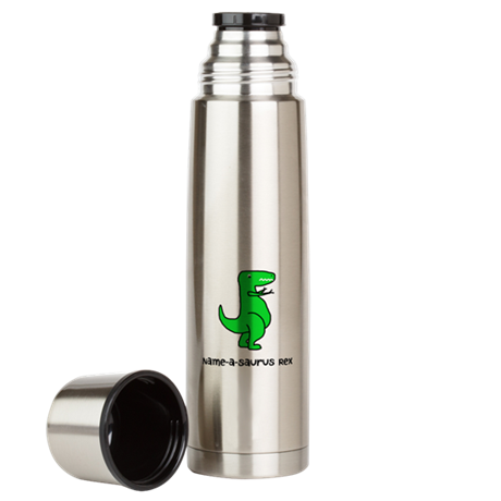 Name your own T-Rex! Large Thermos Bottle