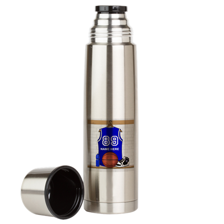 Personalized Basketball Jerse Large Thermos Bottle