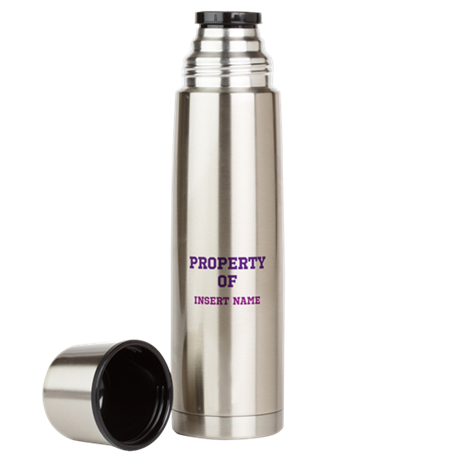 Customizable (Property Of) Large Thermos Bottle