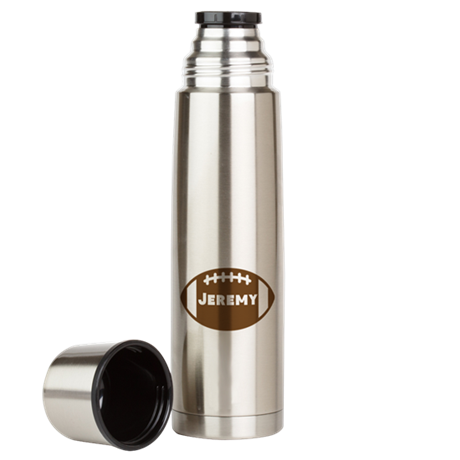 Personalized Football Large Thermos Bottle