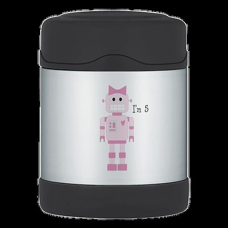 Custom Girly Robot Thermos Food Jar