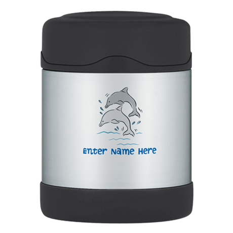 Personalized Dolphins Thermos Food Jar