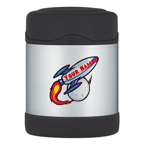 Personalized rocket Thermos Food Jar