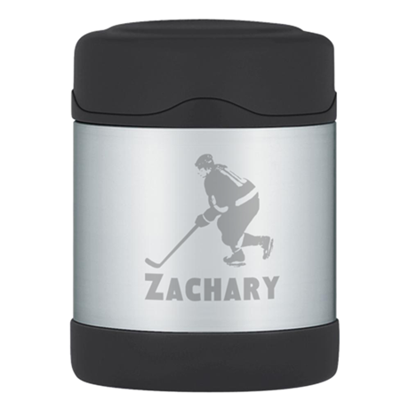 Personalized Hockey Thermos Food Jar