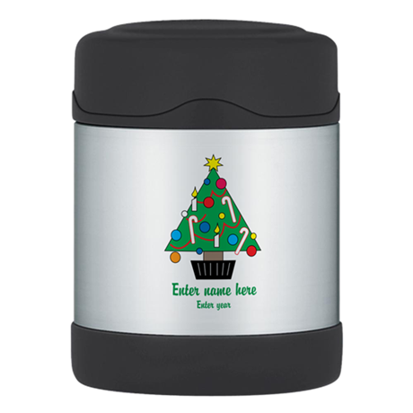 Personalized Christmas Tree Thermos Food Jar