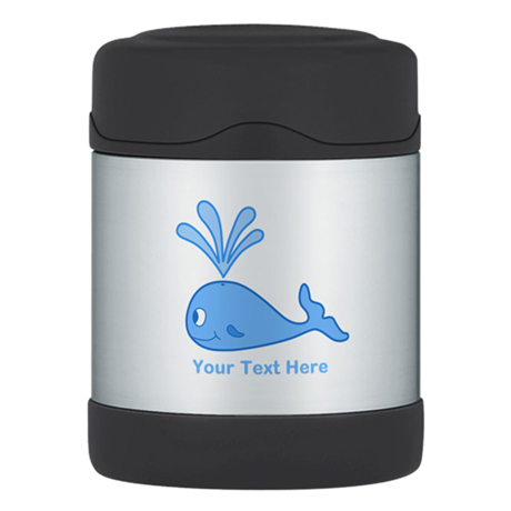 Whale. Blue Custom Text Thermos® Food Jar