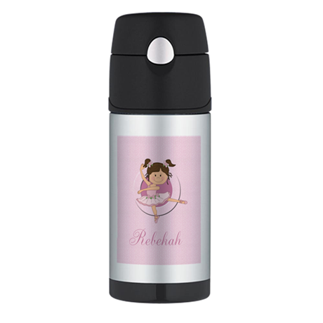 Cute Ballerina Ballet Gifts Thermos Bottle (12oz)