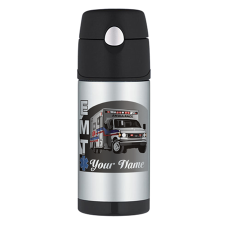 Custom Personalized EMT Thermos Bottle (12oz)