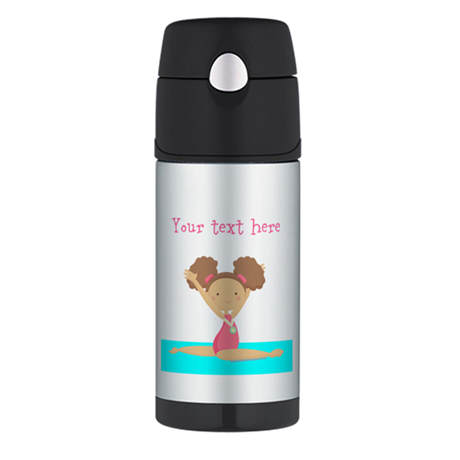 Brown haired gymnast Thermos Bottle (12oz)