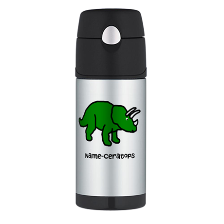 Name your own Triceratops! Thermos Bottle (12oz)