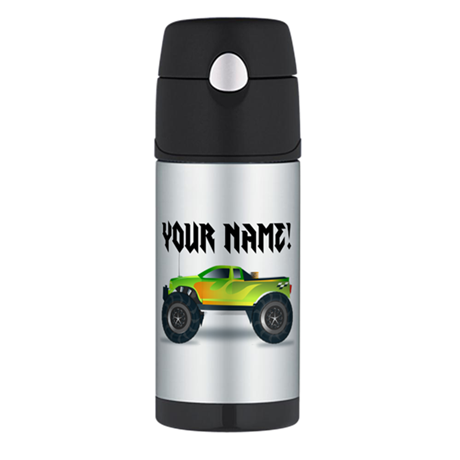 Personalized Monster Truck Thermos Bottle (12oz)