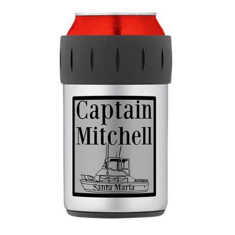 Personalized Captain Thermos Can Cooler