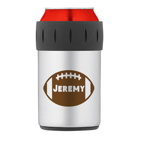 Personalized Football Thermos Can Cooler