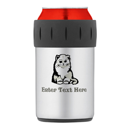 Personalized Kitten Thermos Can Cooler