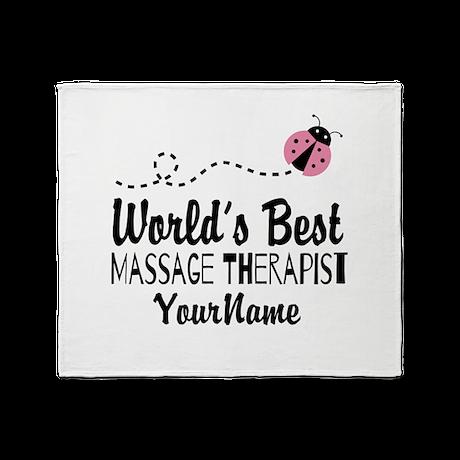 World's Best Massage Therapist Throw Blanket