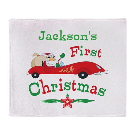 Custom 1st Christmas Throw Blanket