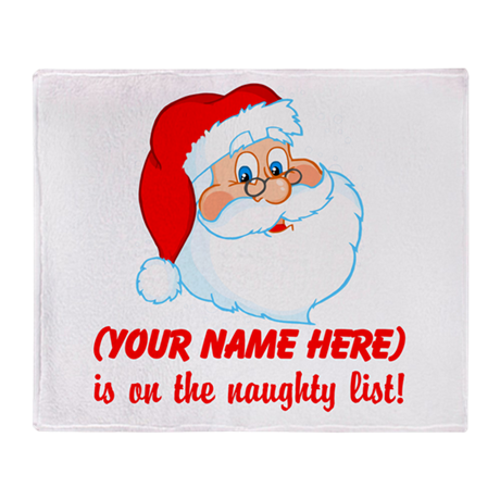 Personalized Naughty List Throw Blanket