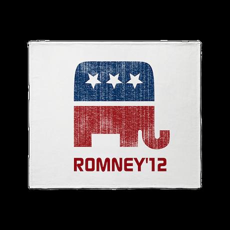 Romney'12 Throw Blanket