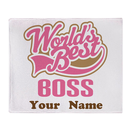 Personalized Boss Gift Throw Blanket
