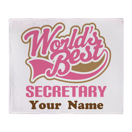 Personalized Secretary Throw Blanket