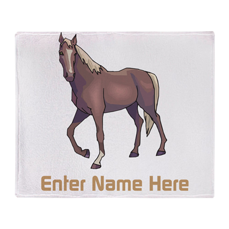 Personalized Horse Throw Blanket