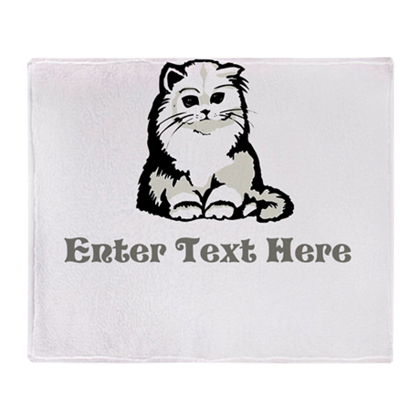 Personalized Kitten Throw Blanket
